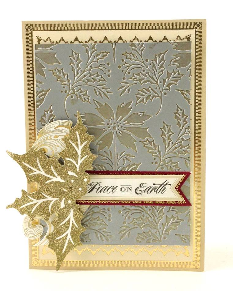 Anna Griffin Christmas Cards.Holiday Metallic Layers Embossing Techniques Anna Griffin