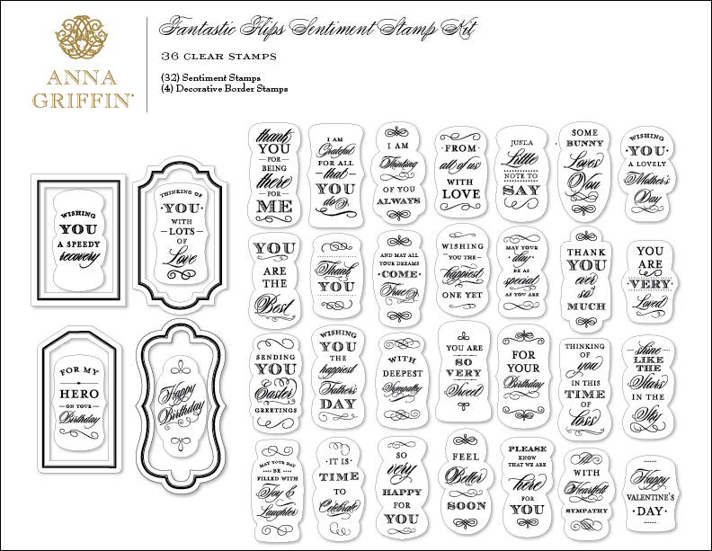 AG545 Fantastic Flips Stamp Set