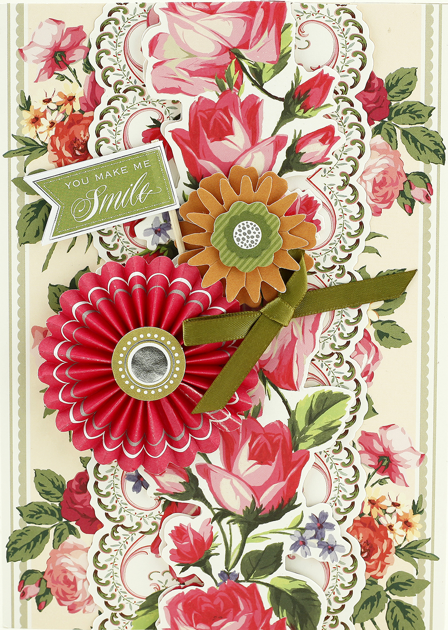 National craft month weekly craft wonder 3 3d floral border also today we are sharing how to create this beautiful lovely letterpress hearts birthday card with step by step instructions how do you like the izmirmasajfo