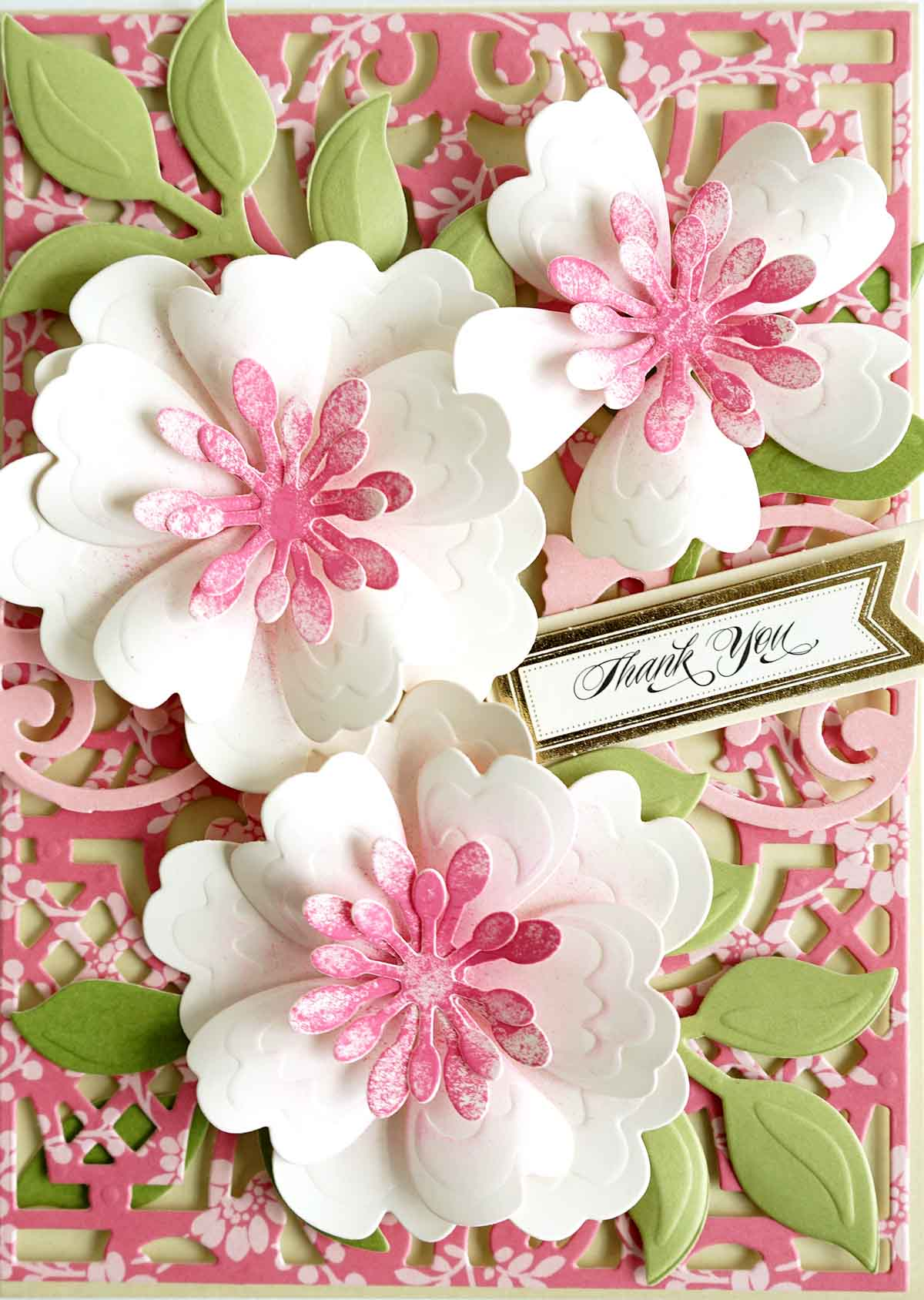 How To Blooming Card With Our 3d Flower Dies Anna Griffin