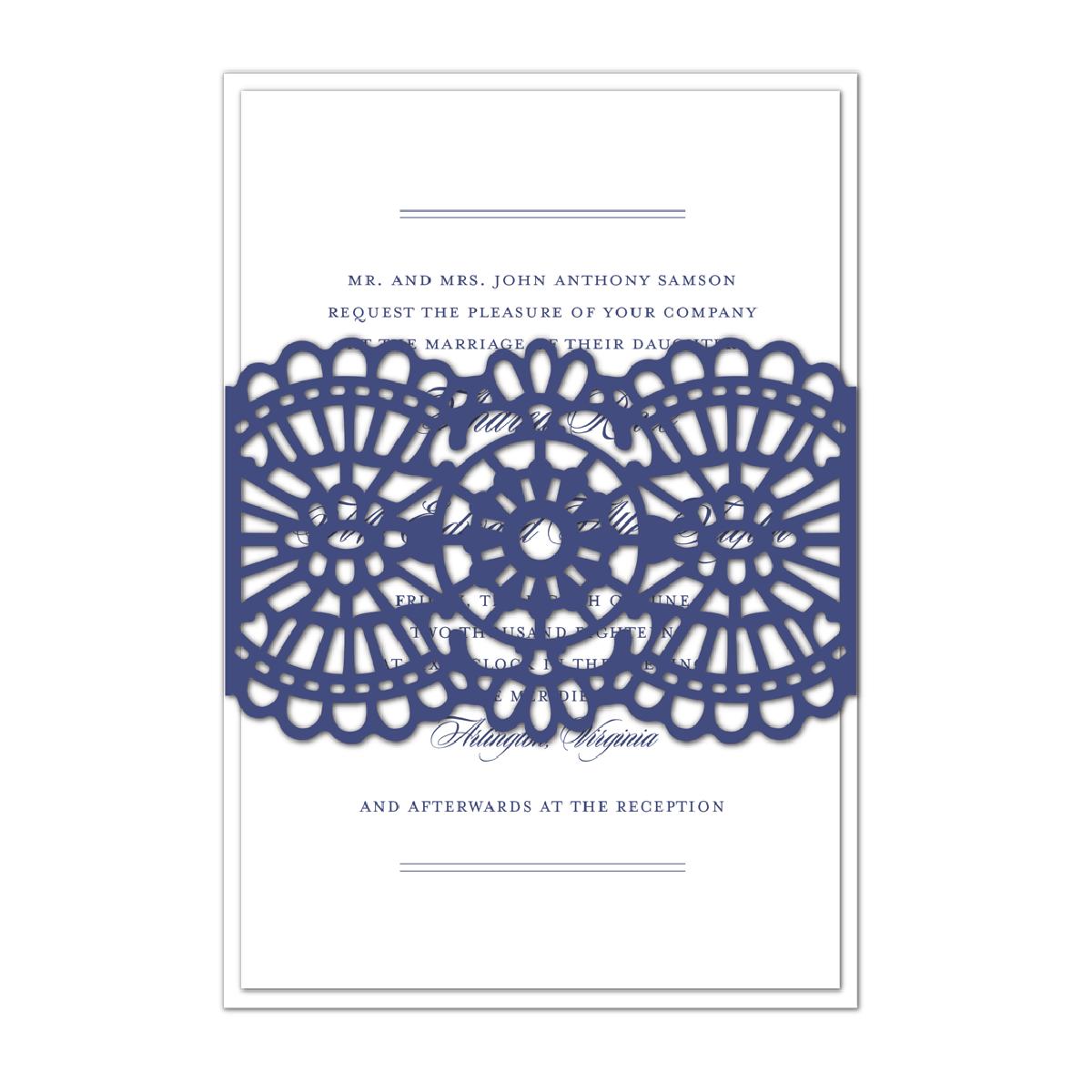 Ivory Lace Vellum Gatefold Invitation