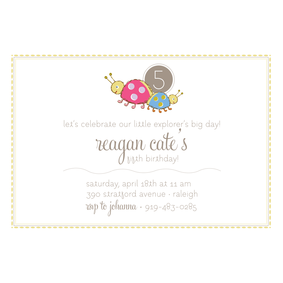 Little Lady Bugs Invitation - Anna Griffin