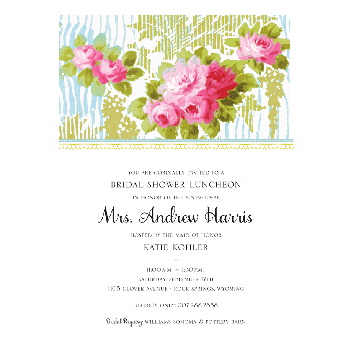 French Floral Invitation - Anna Griffin