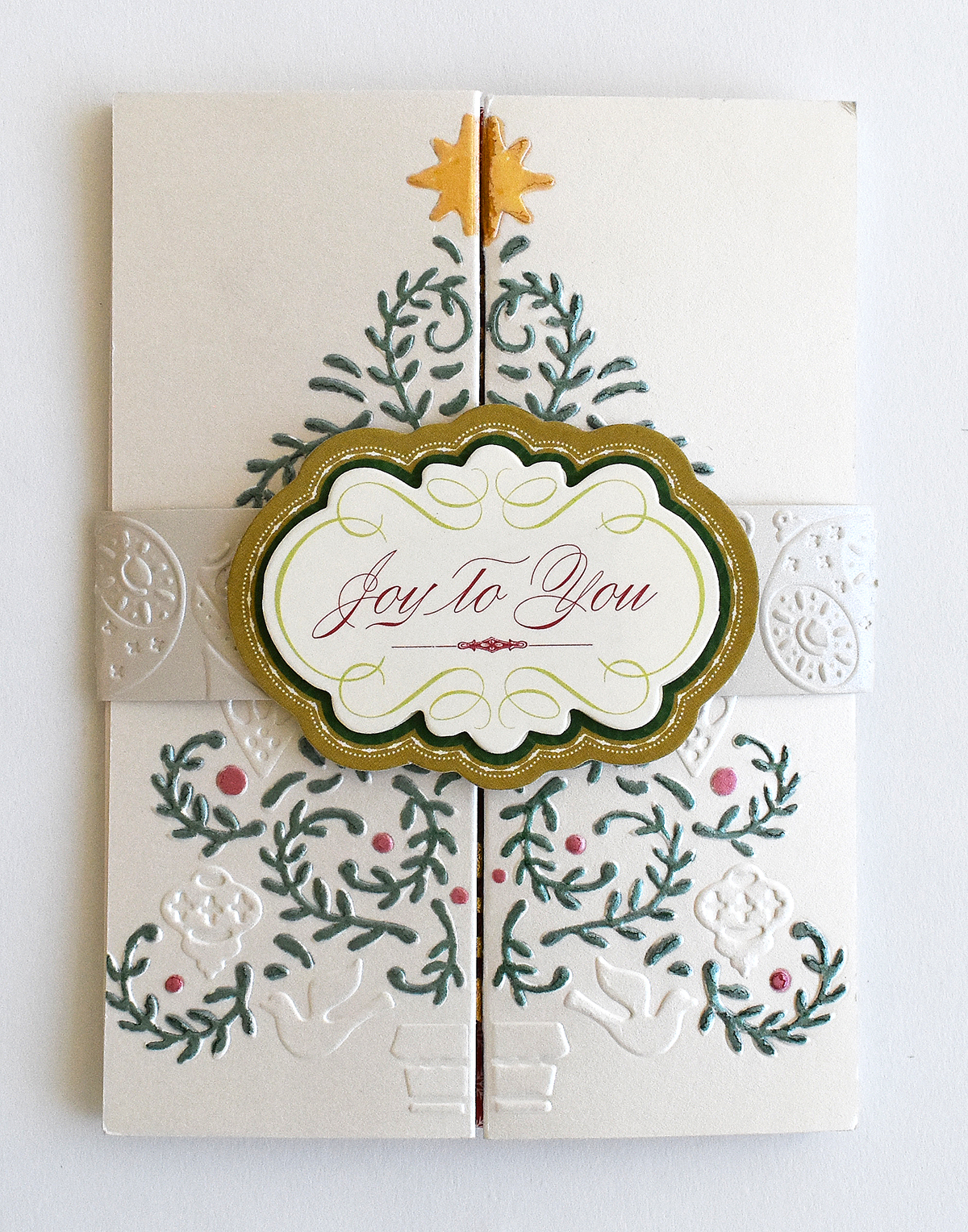 How To Colorful Christmas Double Gatefold Card Anna Griffin