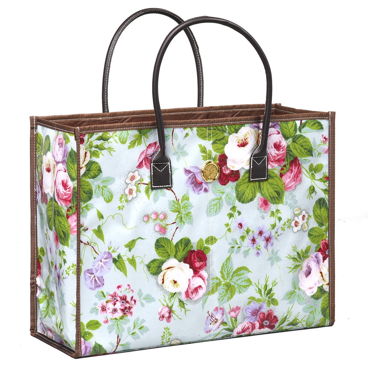 16 X 12 Custom Printed Kraft Paper Wedding Gift Bags: Amelie Floral All Purpose Tote Bag