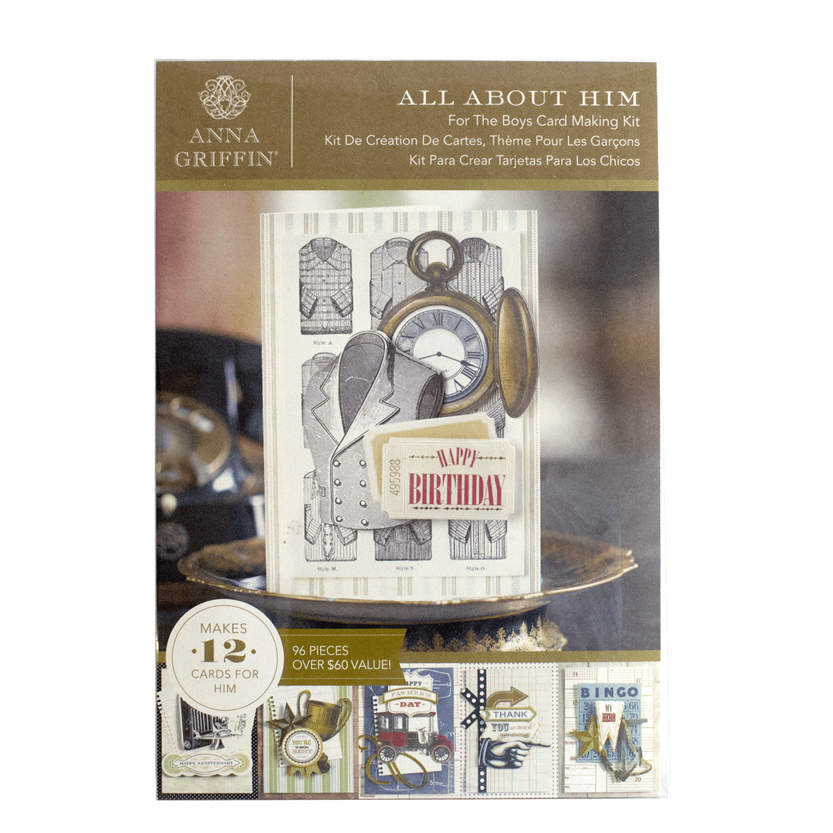 Glorious greetings cardmaking kit anna griffin for the boys card kit all about him m4hsunfo
