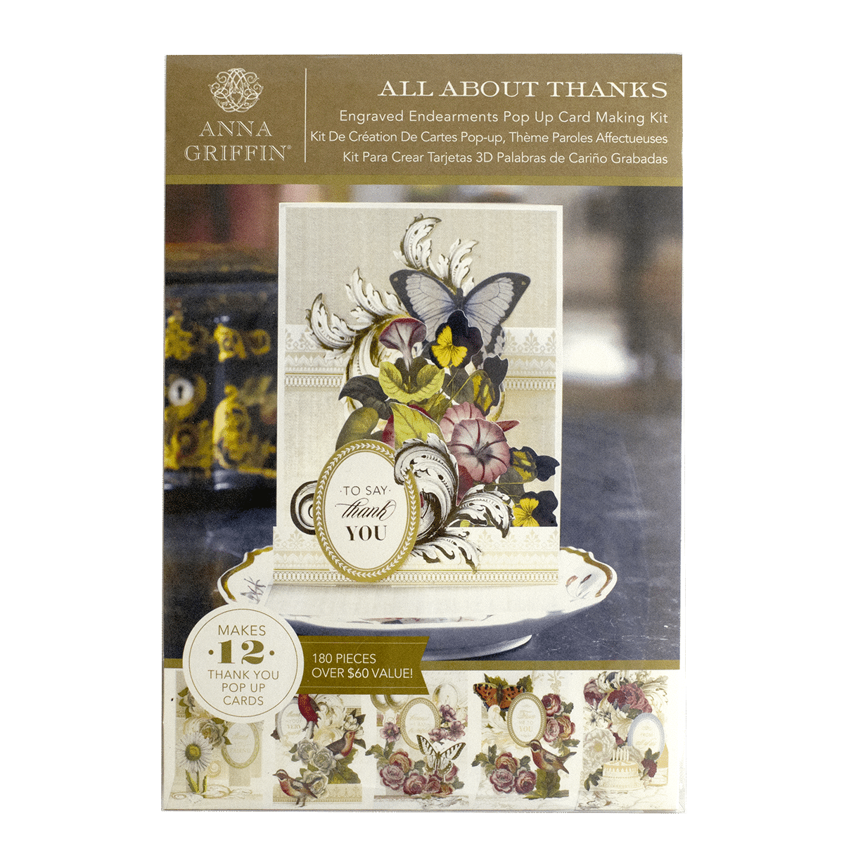 Glorious greetings cardmaking kit anna griffin engraved pop up card kit all about thanks m4hsunfo