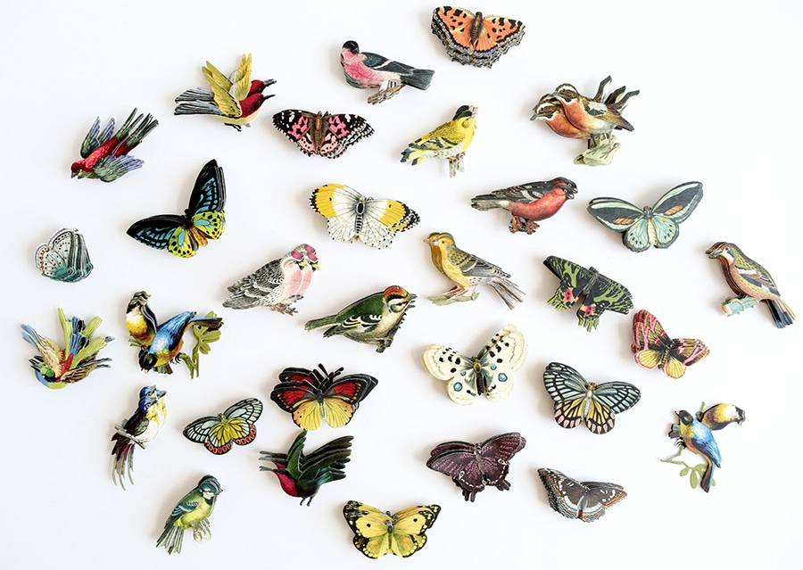 30 mixed colour diecut gem butterflies cardmaking embellishments scrapbooking