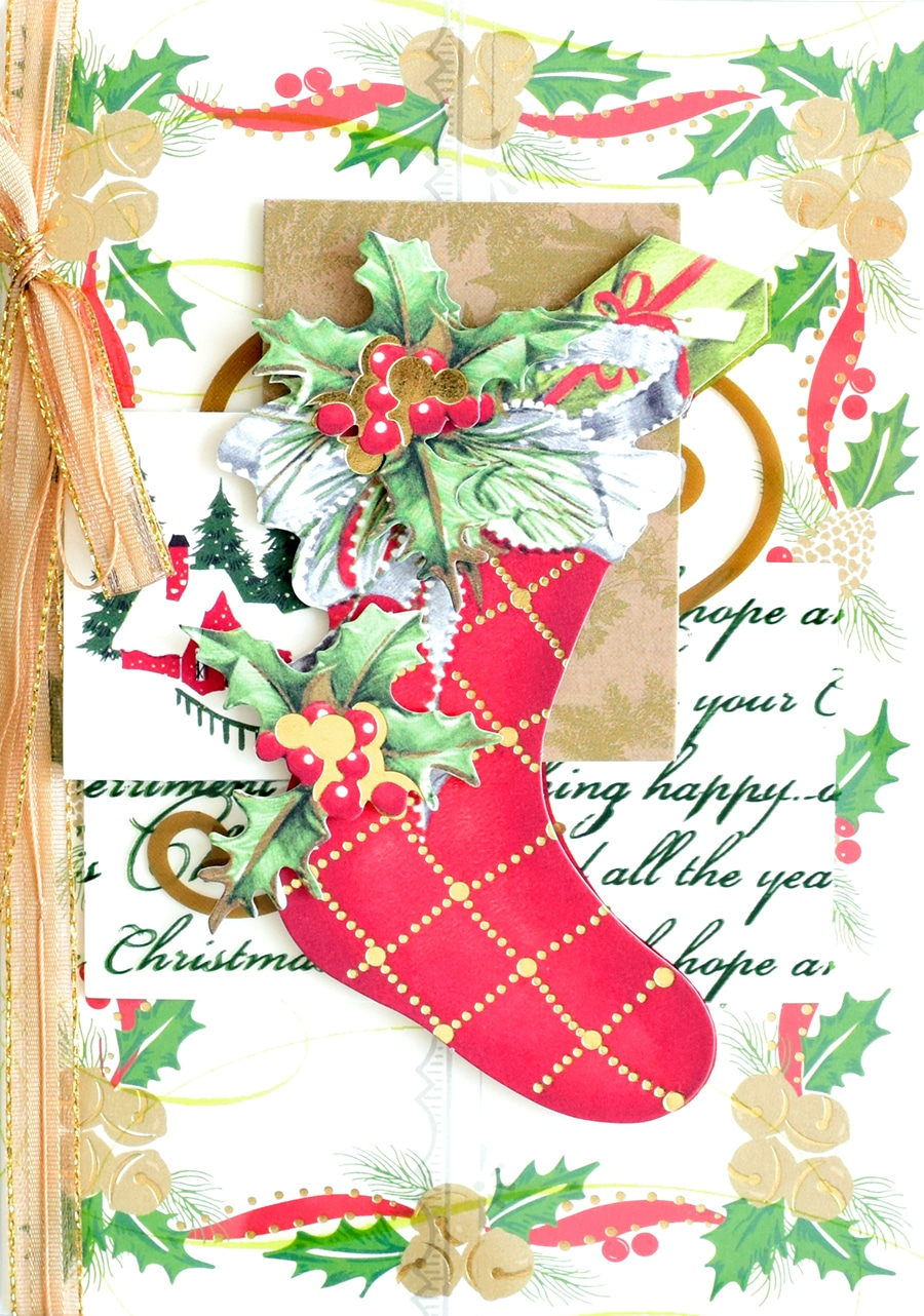 Christmas Pine Cone Scroll Card Toppers My Paper Stash