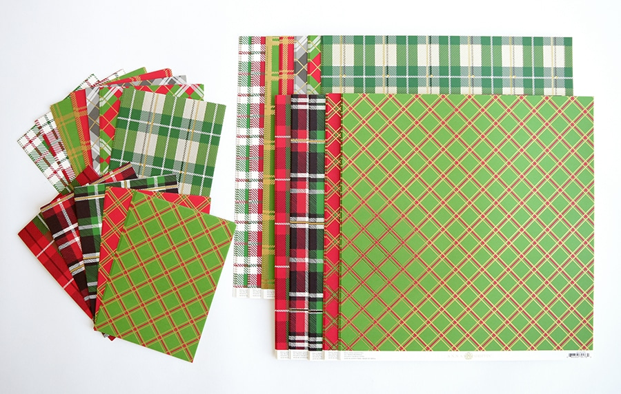 4aae8d6378fb These papers are pretty alone, combined with another plaid or even with one  of our shiny or matte foil cardstocks. Plaid is truly the pattern of the  season!