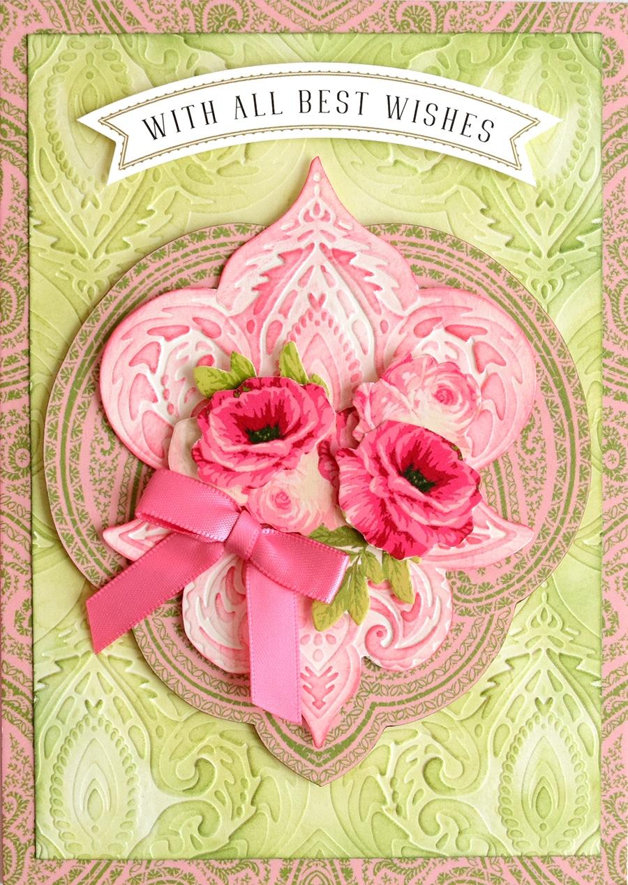 Paisley Butterflies And Flowers Scrapbook Card Topper Craft Embellishment