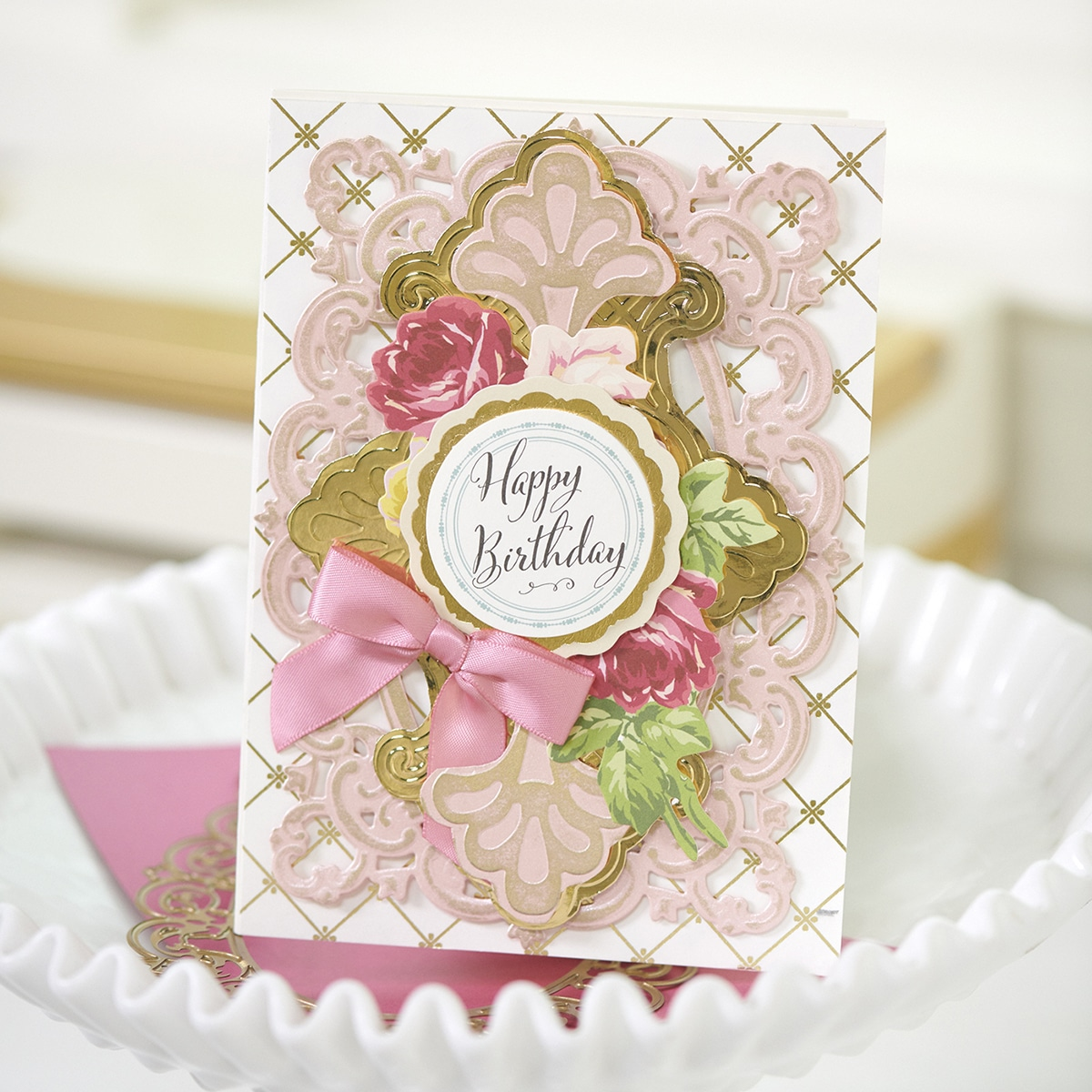 Anna Griffin® For You Fringe Empress Dies and Embossing Folder 643394 NEW