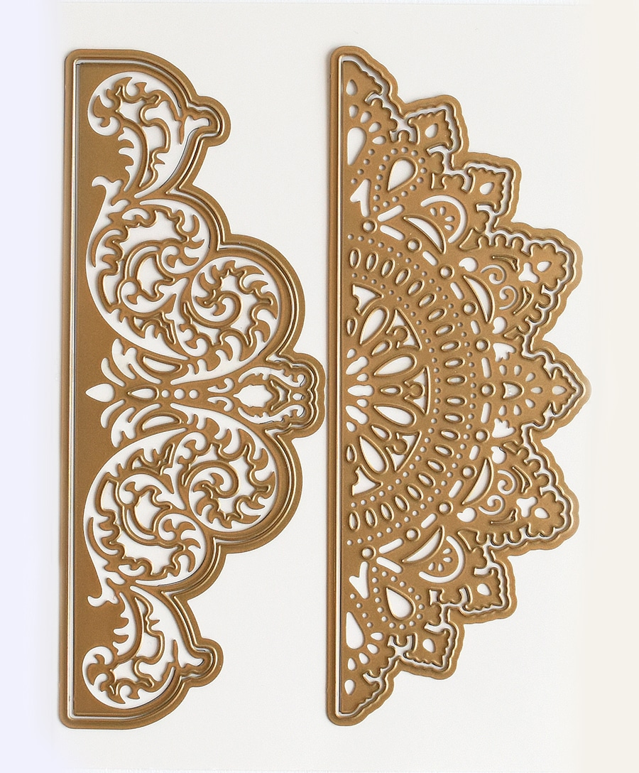 Connors Embossing Stencil Solid Brass Flowers Border  NEW