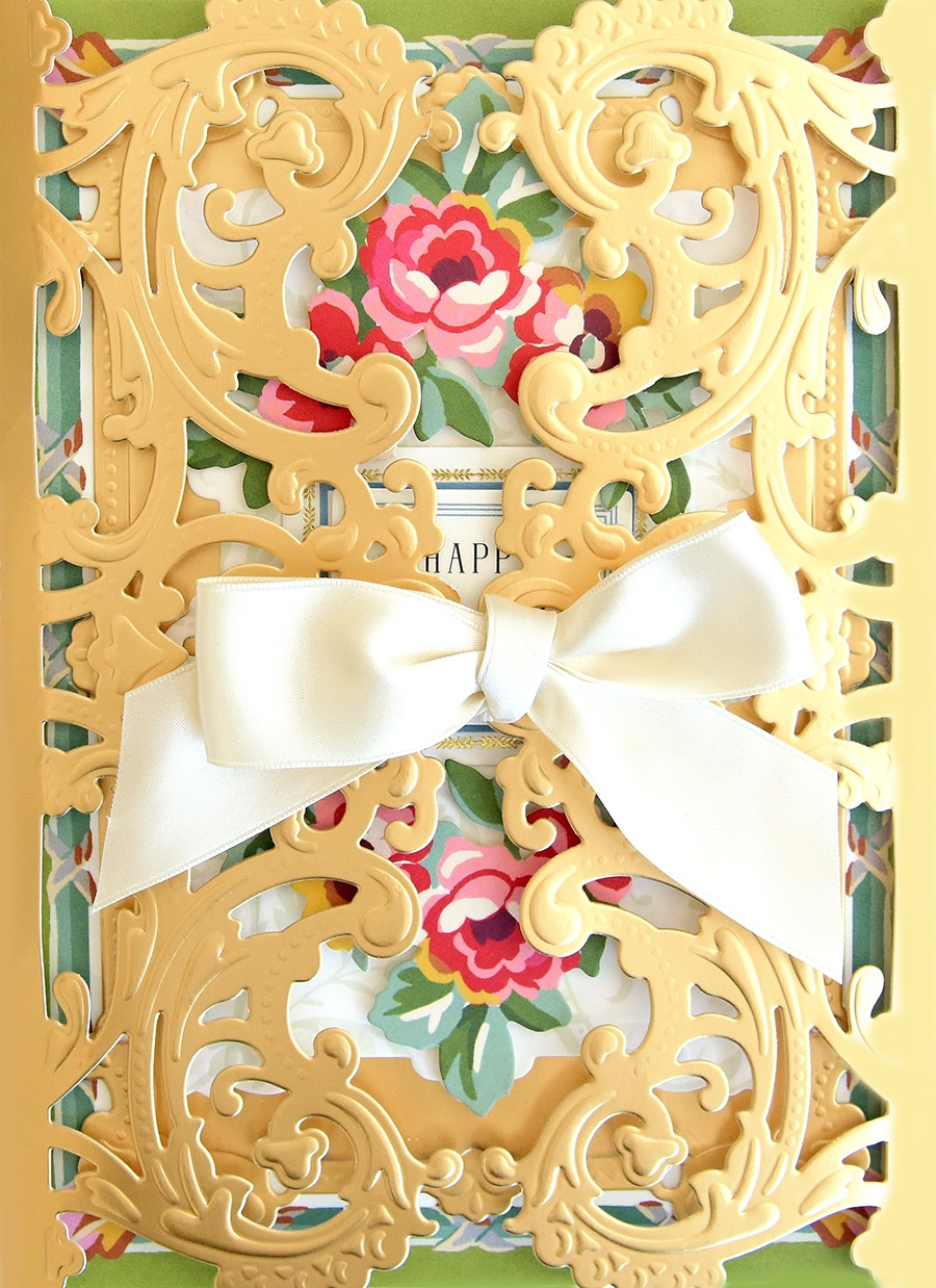 Anna Griffin® Geometric Gatefold Jacket Cut /& Emboss Die Set Sealed
