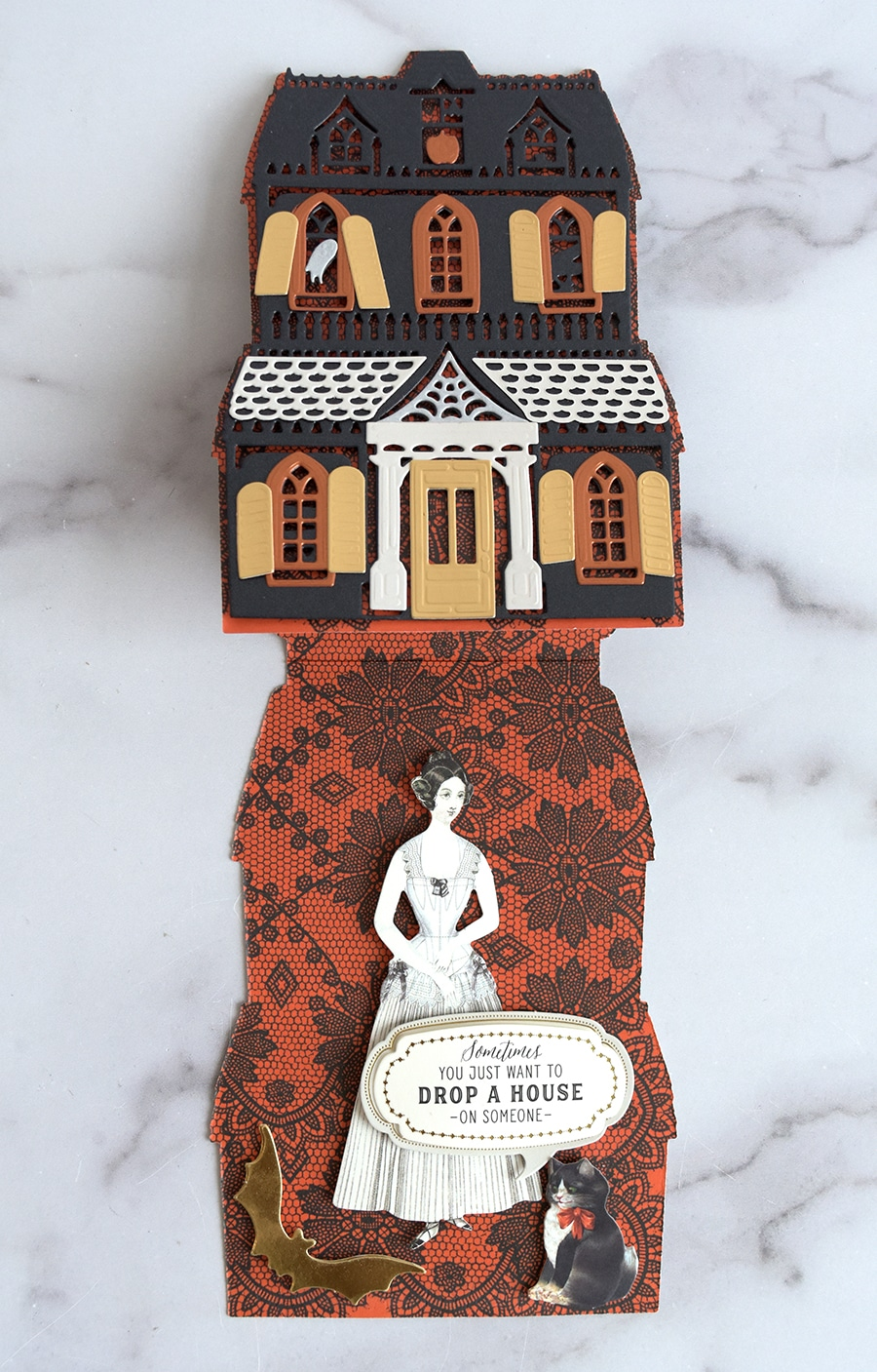 Haunted House Easel Cards Made Easy Anna Griffin