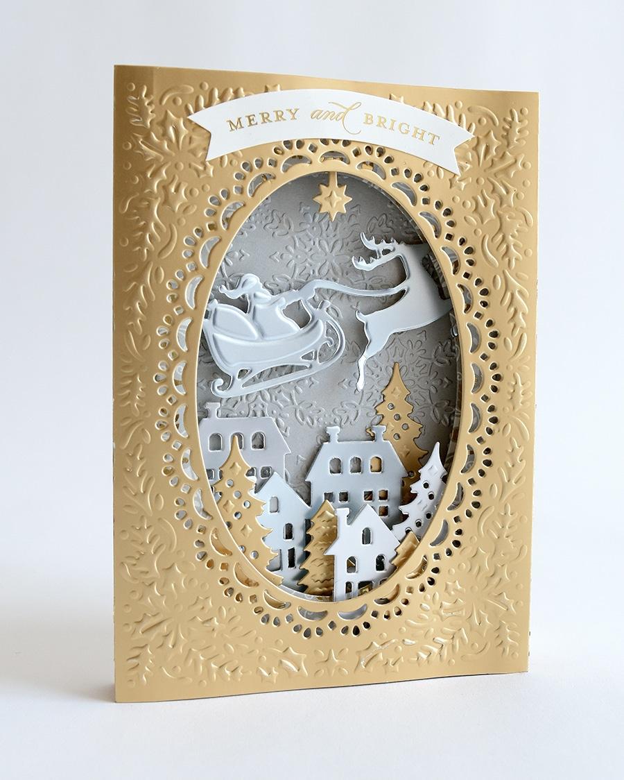 Christmas Shadow Box Card Dies Anna Griffin