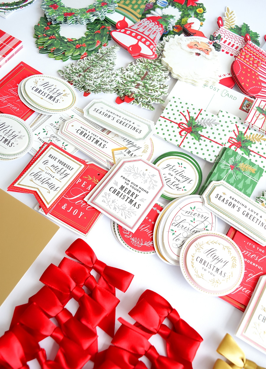 Vintage Christmas.Vintage Christmas Card Making Kit
