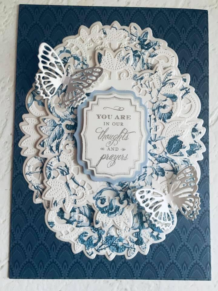 Craftspiration - May 6th 2021 sample sympathy card.